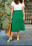 Lisa Says Gah Capri Wrap Skirt Green