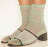Mint Mesh Socks