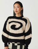 Twister Sweater Black + White