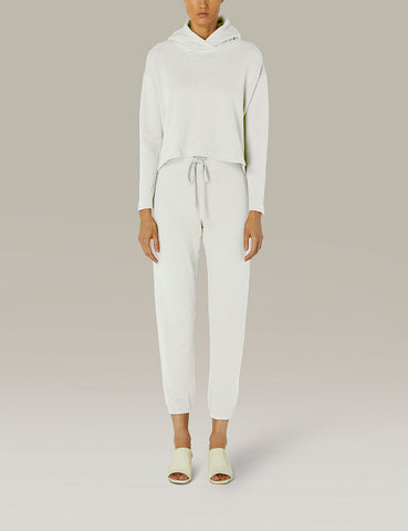 French Terry Jogger White
