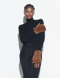 Apparis Caramel Faux Fur Gloves