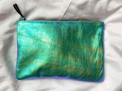 PRIMECUT Iridescent Leather Clutch