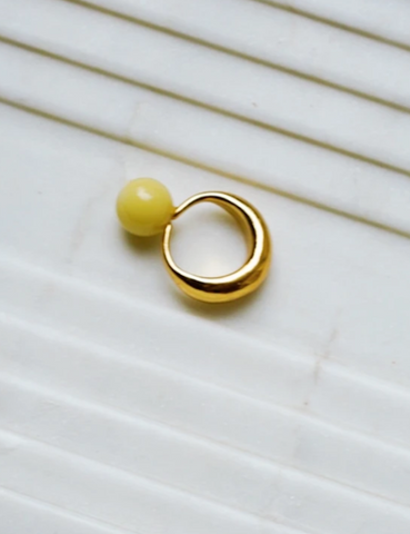 Keane Glass Ball Ring Gold