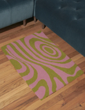 Groovy Rectangle Rug - Pink + Green