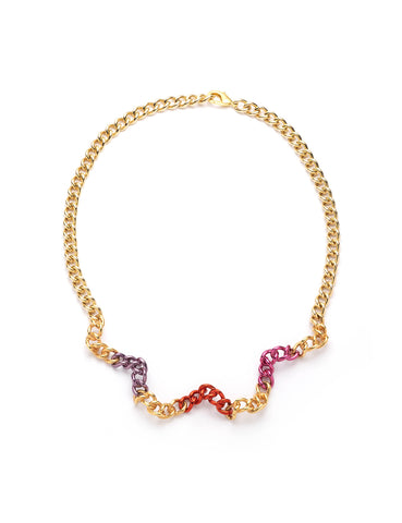 Squiggle Chain Necklace