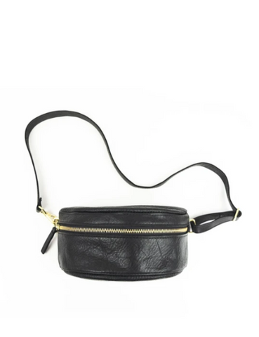 PRIMECUT Leather Waist Bag Black