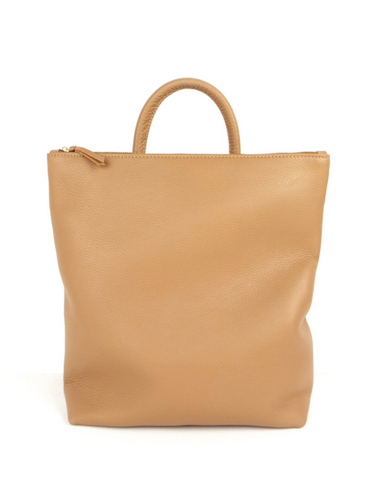 Primecut Leather Backpack Tan