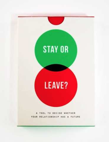 The School of Life Stay Or Leave Card Game