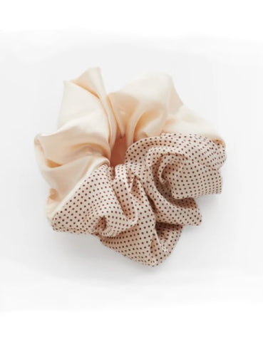 Respiro Valet Studio Semidot Cream Cindy Scrunchie