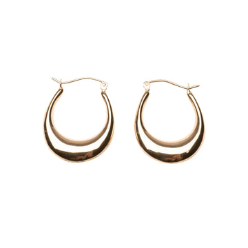 14k Small Oval Hoops