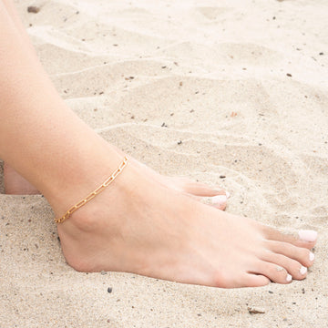 Gold Orbit Anklet