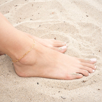 Gold Rectangle XL Anklet