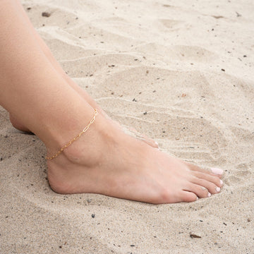 Gold Rectangle Anklet