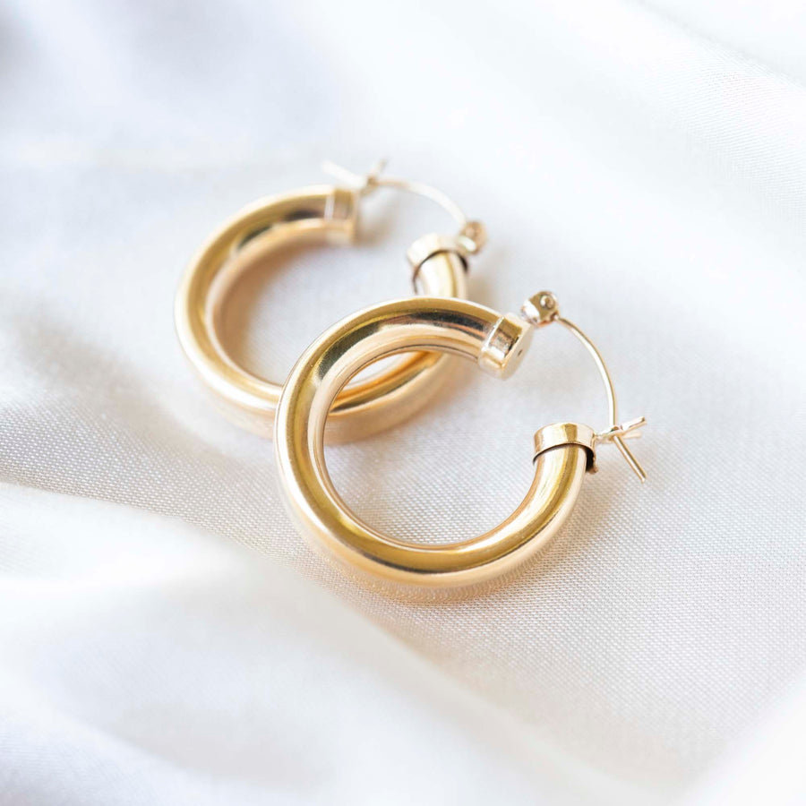 Gold Chubby Hoops