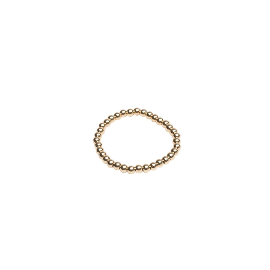 Gold Beaded Stretch Ring