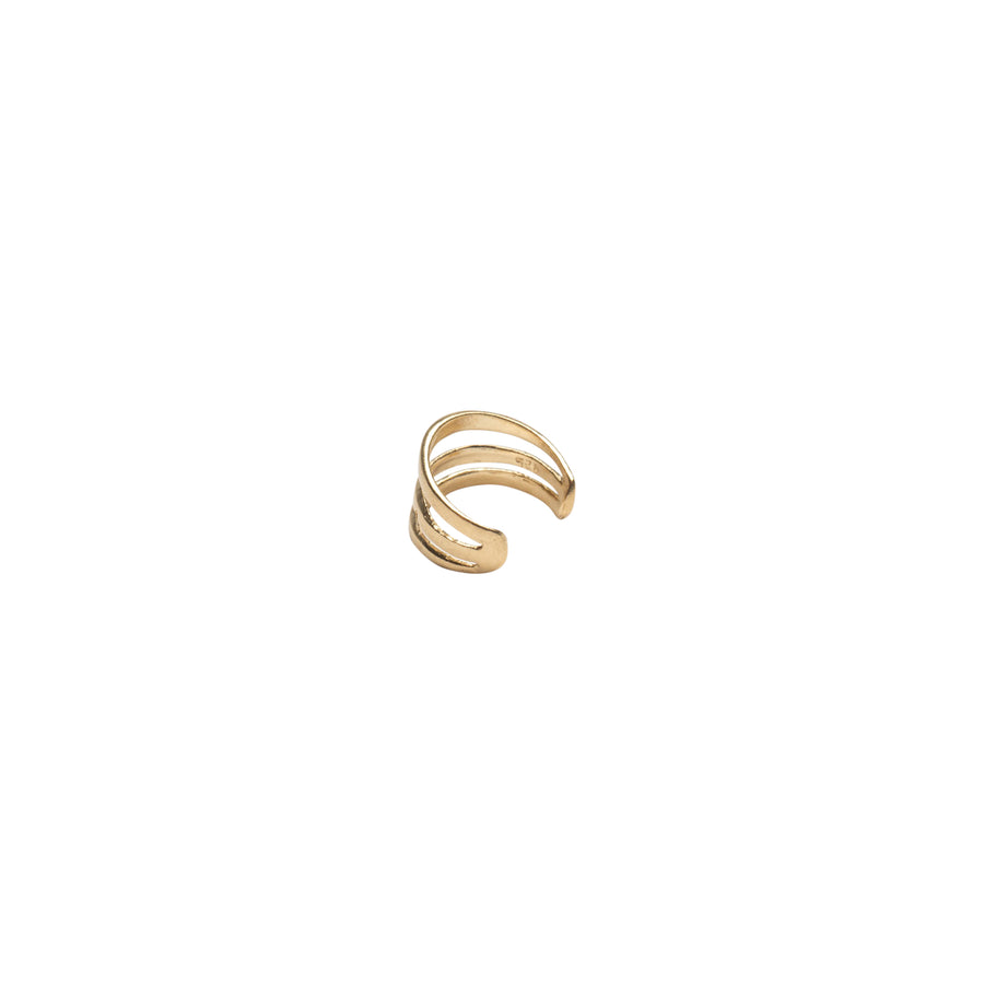 Gold Three Bar Ear Cuff
