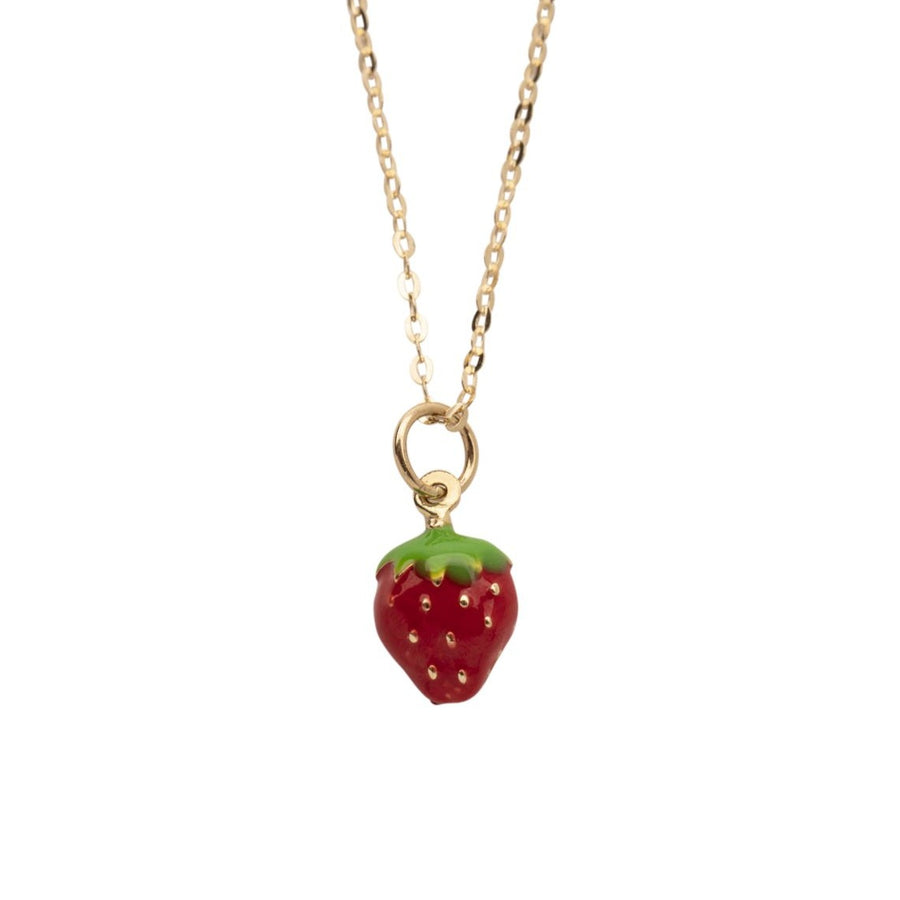 14k Gold Strawberry Necklace