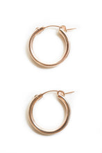 14k Rose Gold Filled Medium Hoops