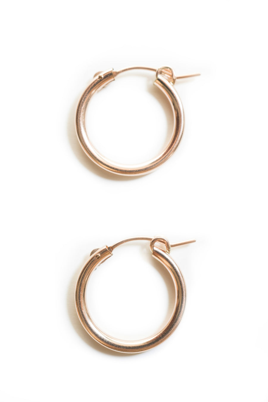 18mm Rose Gold Clasp Hoops