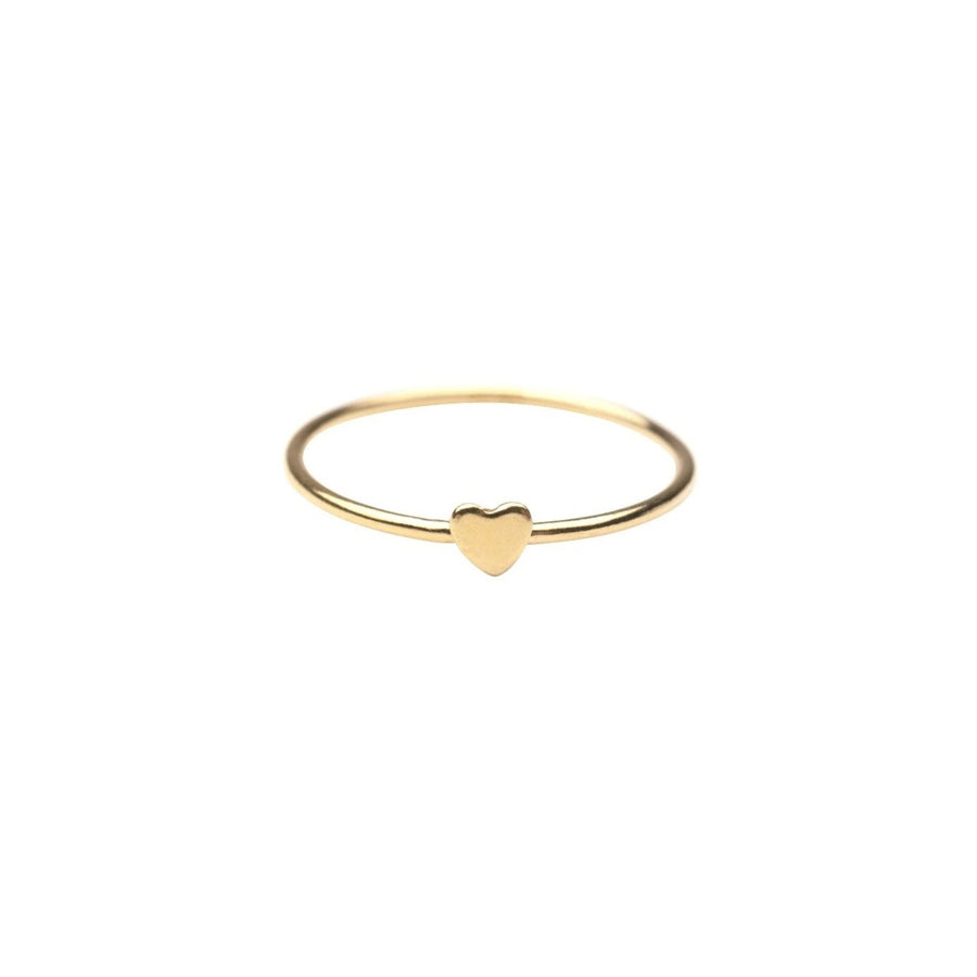 Gold Heart Stacker Ring