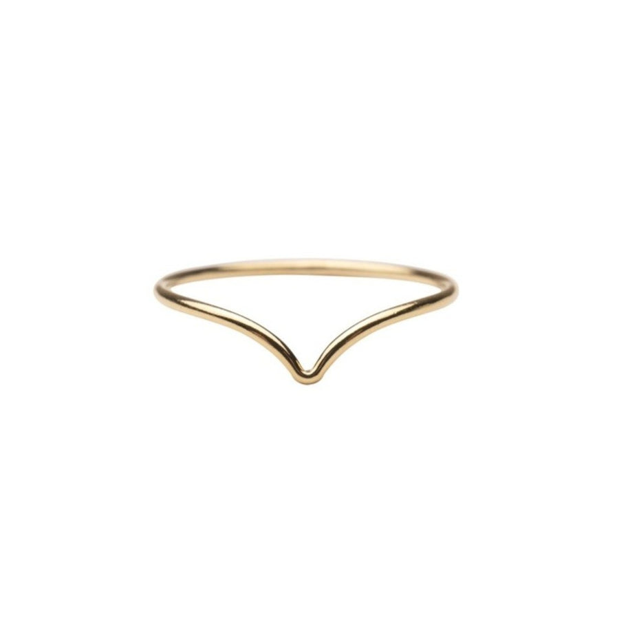 Gold Chevron Ring