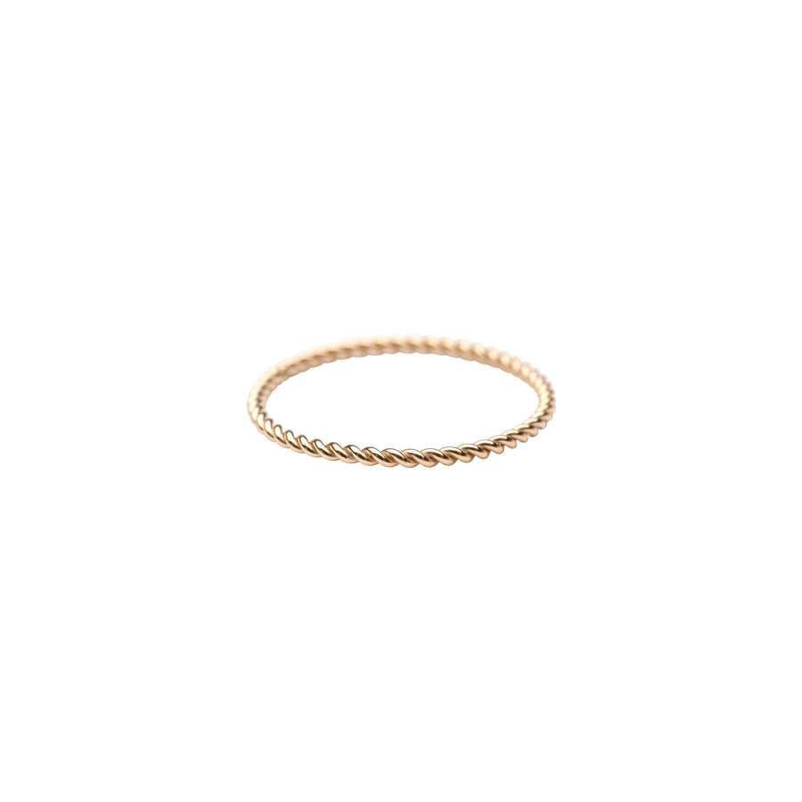 Gold Twist Stacker Ring