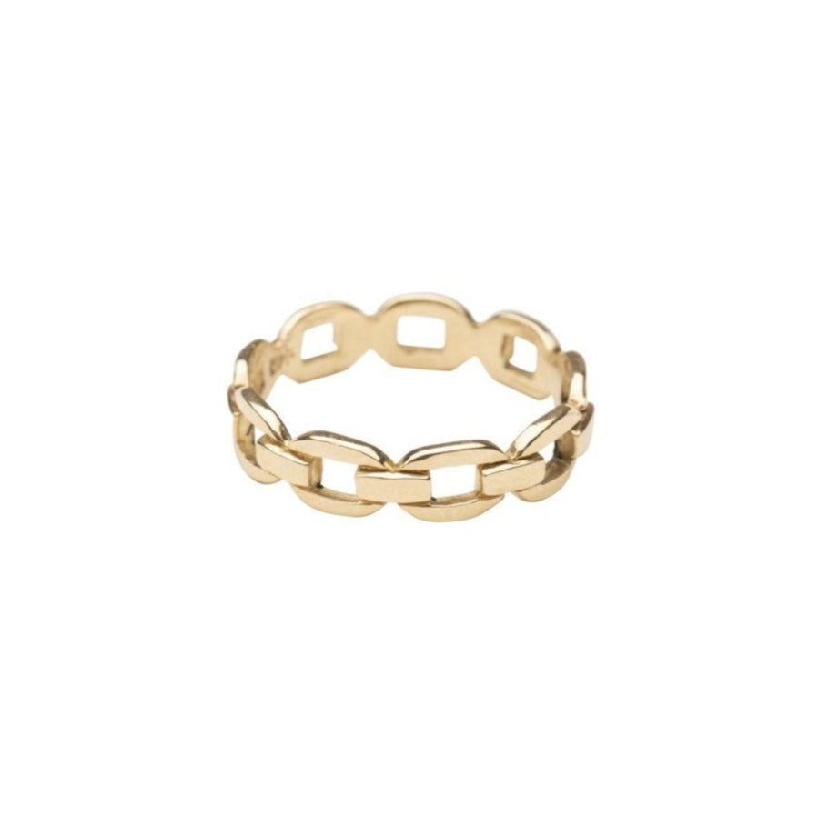 14k Gold Chain and Link Ring
