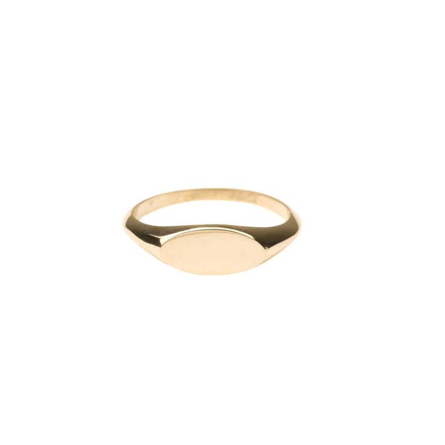 14k Gold Oval Signet