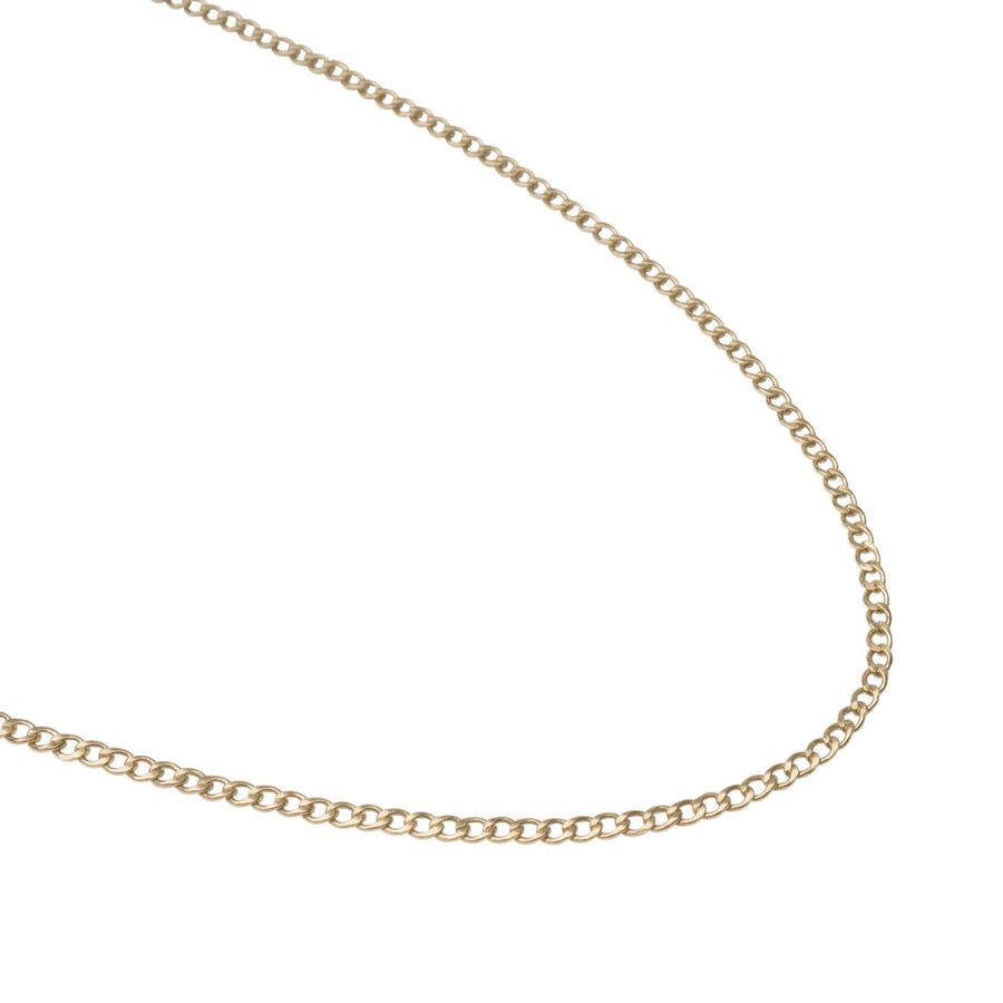 Flat Curb Link | 14k Solid Gold