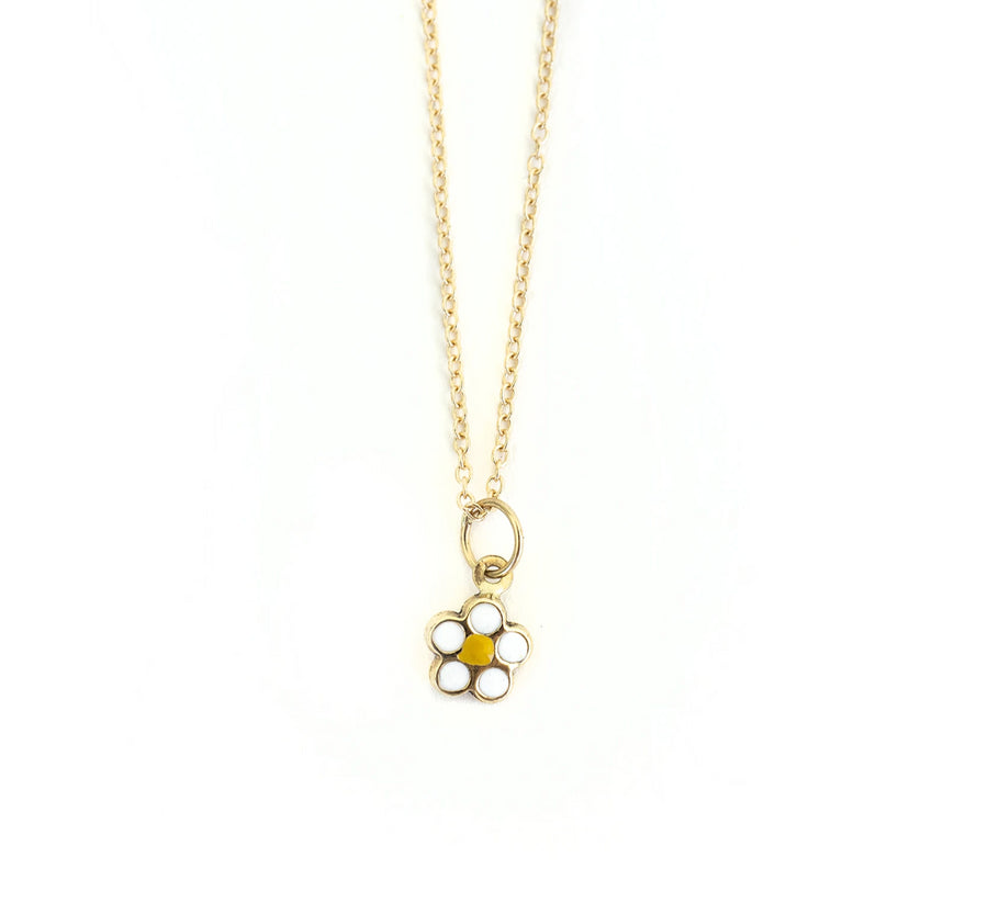 14k Gold Daisy Necklace