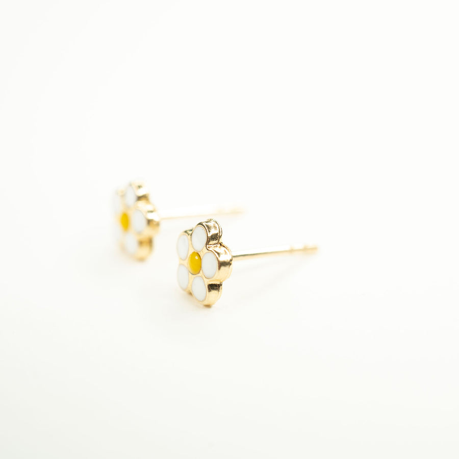 Little Daisy Studs | Solid 14k Gold