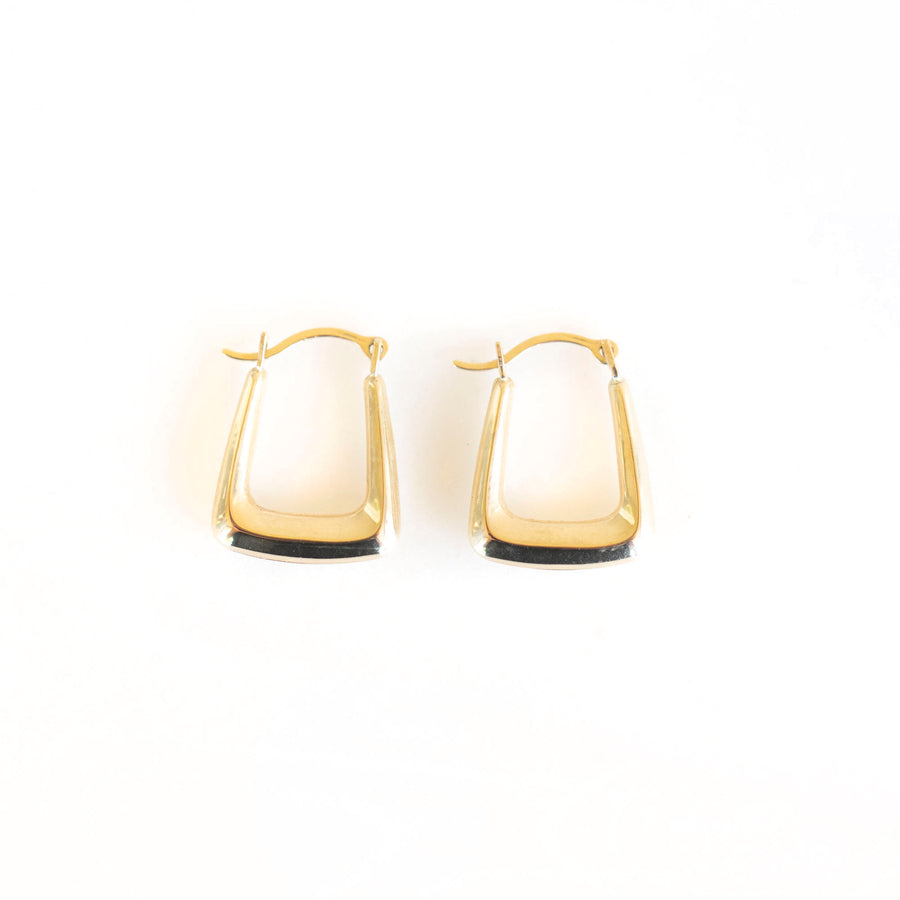 Little Square Hoops | 14k Solid Gold