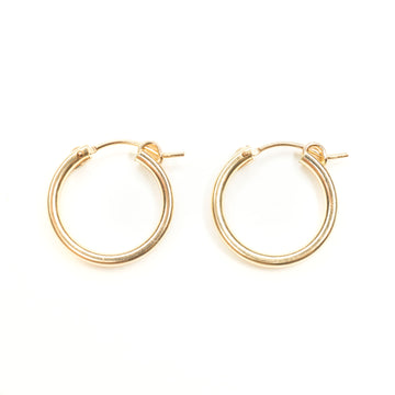 18mm Gold Clasp Hoops