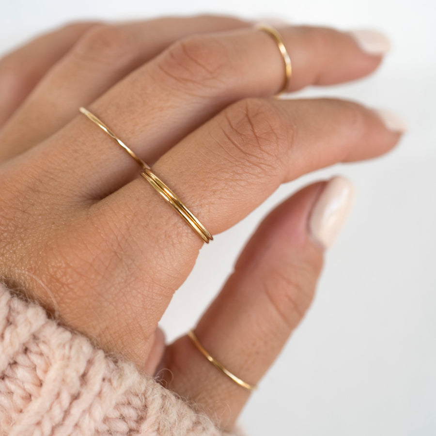 Gold Stackable Ring Set of 3