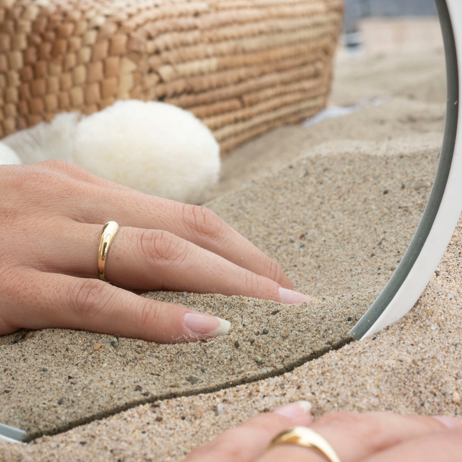 14k Gold Little Dome Ring