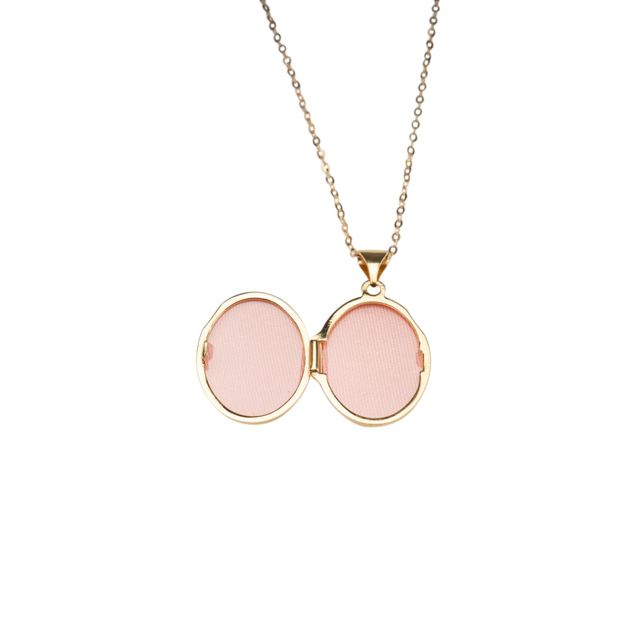 14k Oval Locket Necklace