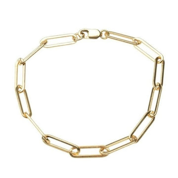 Gold Rectangle Bracelet XL