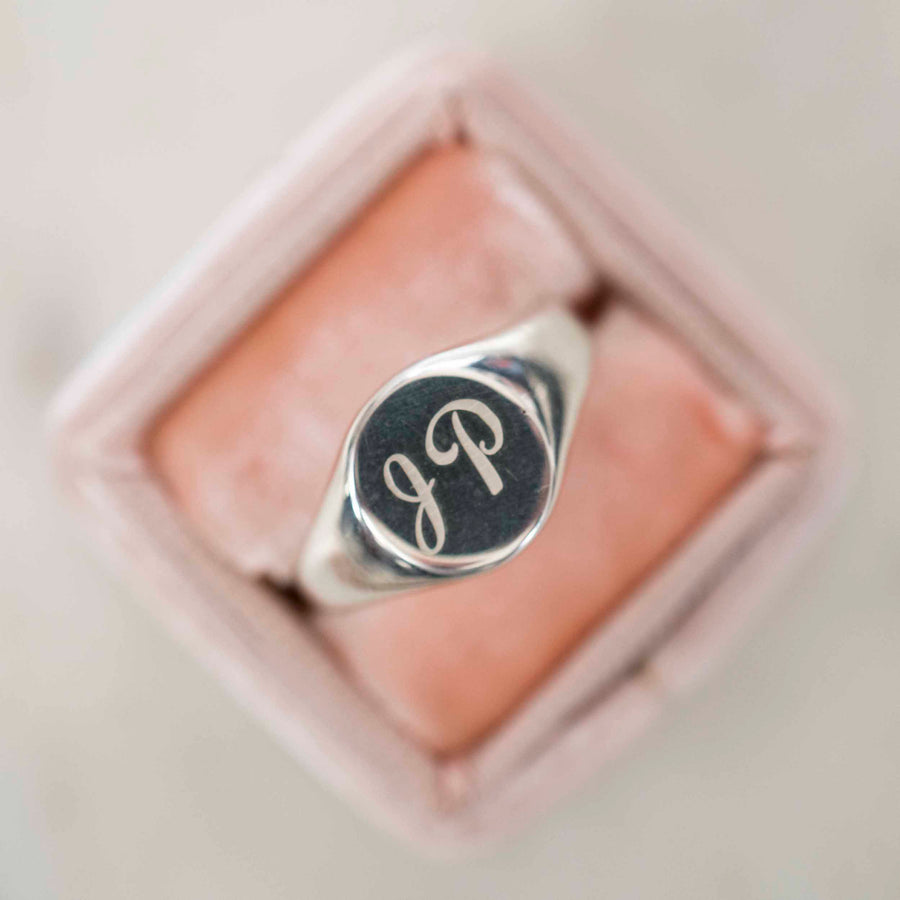 Round Signet Ring | Sterling Silver