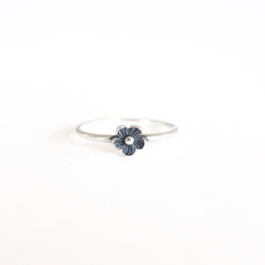 Silver Single Flower Ring