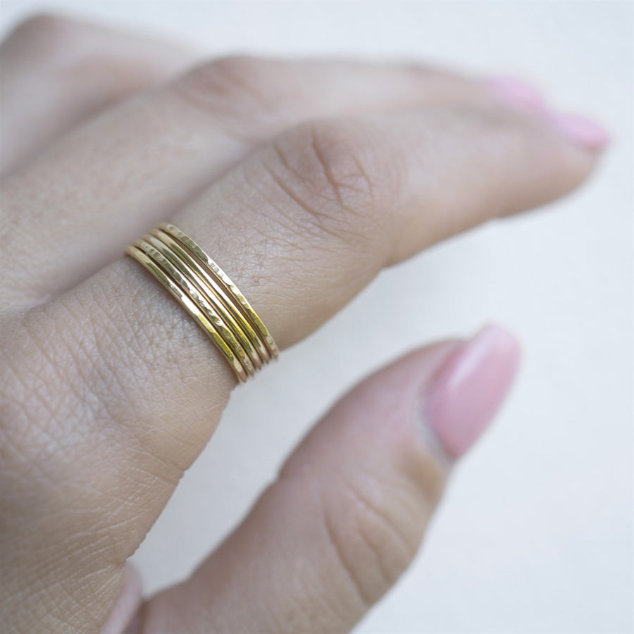 14k Gold Filled Stacker Ring