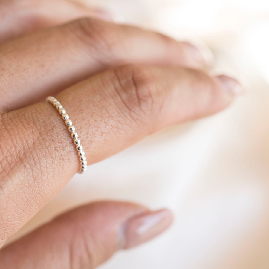 Beaded Ring | Sterling Silver