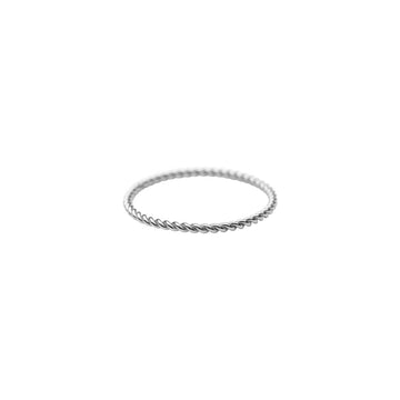 Silver Twist Stacker Ring