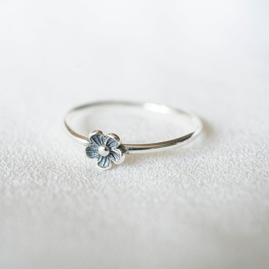 Silver Single Flower Ring, Flower Ring, Unique Flower Ring, Sterling Silver Ring, Cute Flower Ring, Sunflower Ring, Flower Jewelry