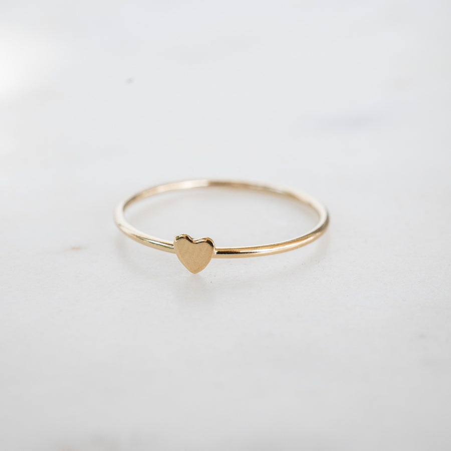 Gold Heart Stacker Ring, 14k Gold Filled Ring, Gold Stacker, Gold Band Ring, Simple Gold Ring, Womens Gold Ring, Dainty Gold Ring