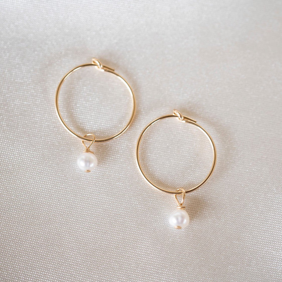 Pearl Hoop Earrings, Gold Filled Hoops, Gold Hoop Earrings, Gold Hoops, Dainty Hoops, Earring Hoops, 14k Gold Hoops, Simple Hoops, Pearls