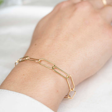 Gold Loops Bracelet, 14k Gold Bracelet, Simple Gold Bracelet, Chain and Link Bracelet, Bracelet, Chain Bracelet, Bold Bracelet, Gold Filled