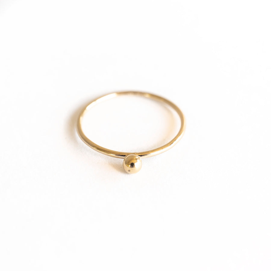 Unique Stackable Gold Ring, Dot Ring, Gold Stackable Ring, Dainty Gold Ring, Gold Stacker, For Him or For Her, Thin Stackable Rings