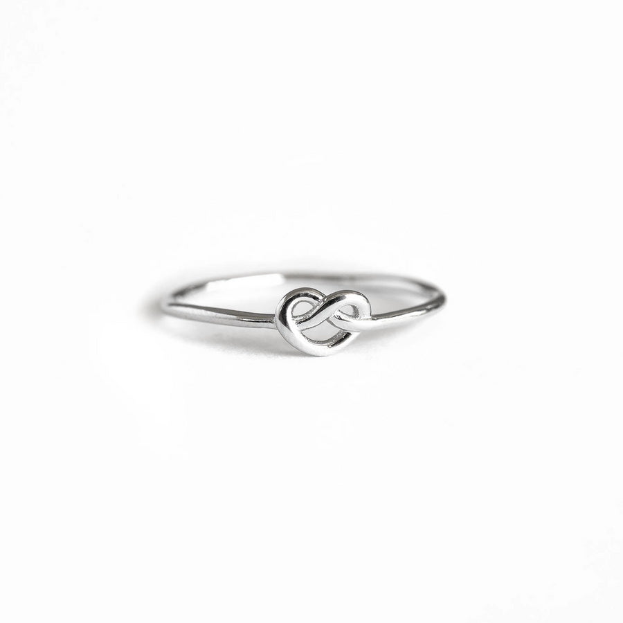 Silver Knot Ring, Sterling Silver Ring,  Silver Stacker, Silver Band Ring, Delicate Ring, Simple Gold Ring, Womens Ring, Cute Silver Ring