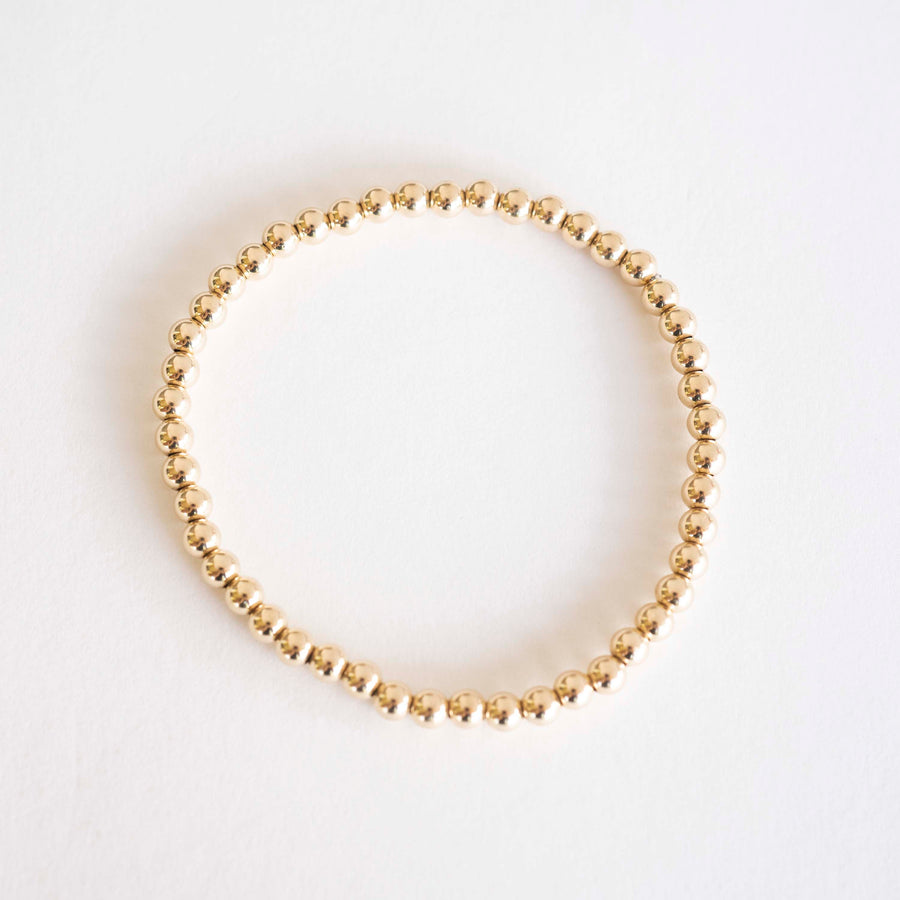 Gold Beaded Bracelet | 14k Gold Bracelet, Simple Gold Bracelet, Bracelet Beaded, Beaded Bracelet, Holiday Gift, Gift for Her, Holiday, Gift