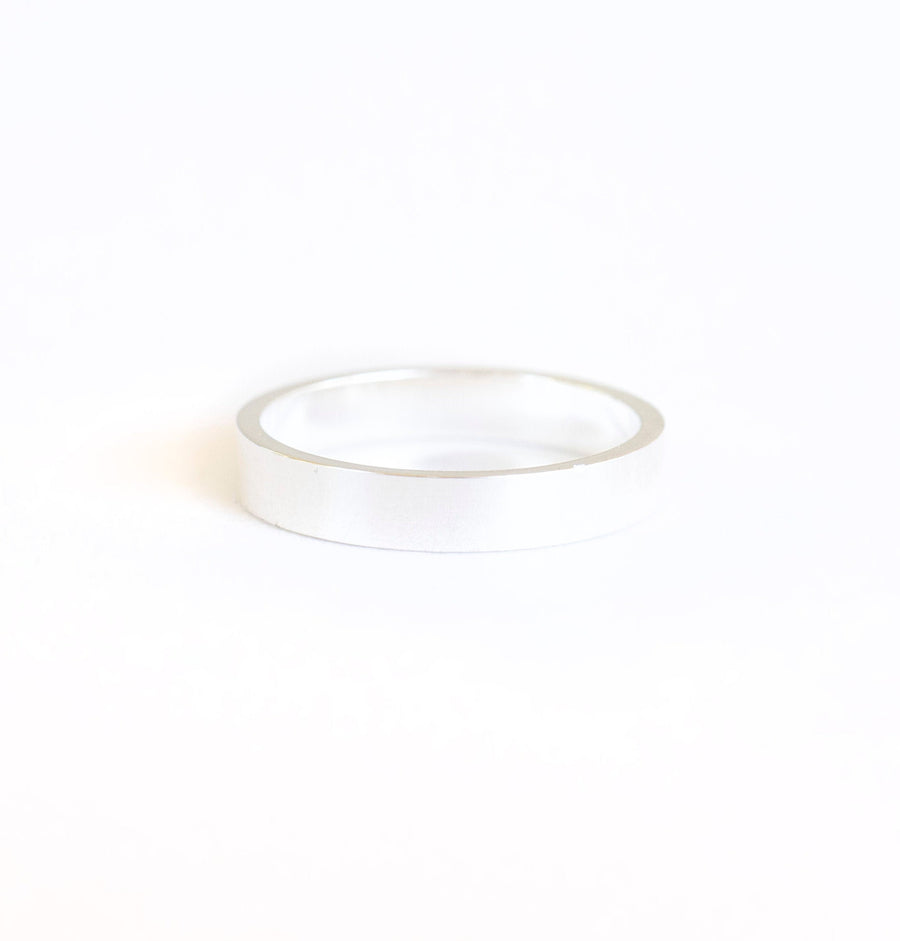 Sterling Silver Band Ring | 3mm Band Ring | Flat Band Ring | Cigar Band Ring | Lightweight Band Ring | Wedding Band RIng | Cute Band Ring